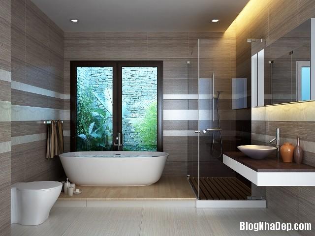 phong tam dep Ánh sáng phòng tắm cho không gian thoáng đãng