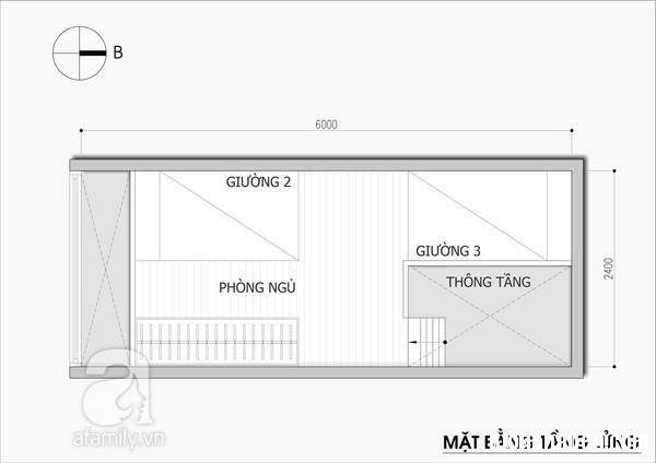 thiet ke nha nho 14 met vuong 11 Tư vấn thiết kế và bài trí nội thất cho ngôi nhà có diện tích 14,4 mét vuông
