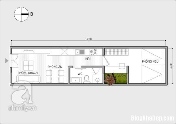 thiet ke nha ong dep 11 Tư vấn bố trí nội thất cho ngôi nhà ống 39 mét vuông