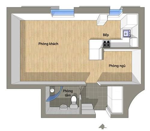 file.354617 Nhà 40m2 với cách bài trí nội thất giúp ăn gian diện tích
