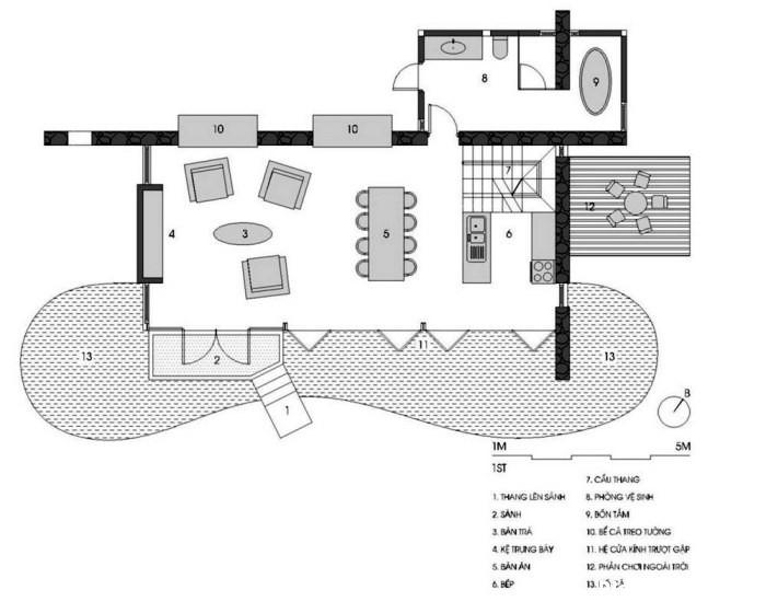 plan1 Nhà trên đồi với kiến trúc đơn giản ở Hòa Bình