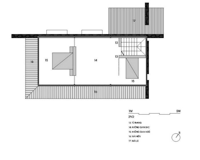 plan2 Nhà trên đồi với kiến trúc đơn giản ở Hòa Bình
