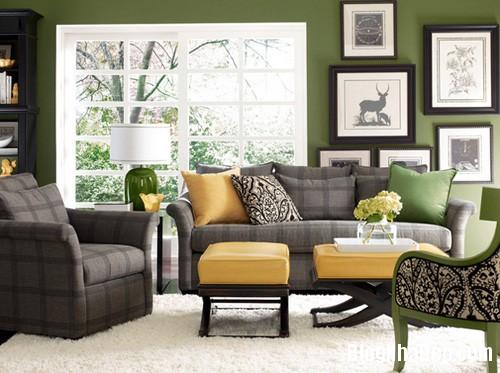 1 1 2548 1396001827 Căn nhà dịu mát hơn với nội thất màu xanh cốm