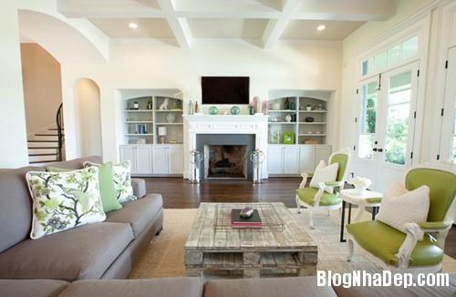 1 15 3909 1396001838 Căn nhà dịu mát hơn với nội thất màu xanh cốm