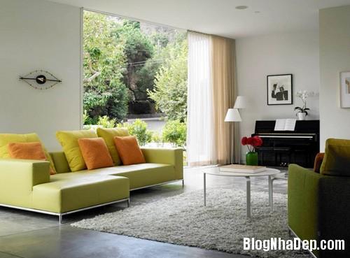 1 7 4495 1396001832 Căn nhà dịu mát hơn với nội thất màu xanh cốm