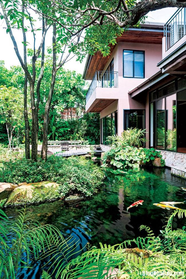20130830095655473 Ngôi nhà vườn đúng chất gần gũi thiên nhiên ở Bangkok