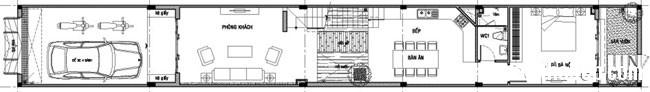 20131211013301965 Thiết kế không gian hài hòa cho nhà ống