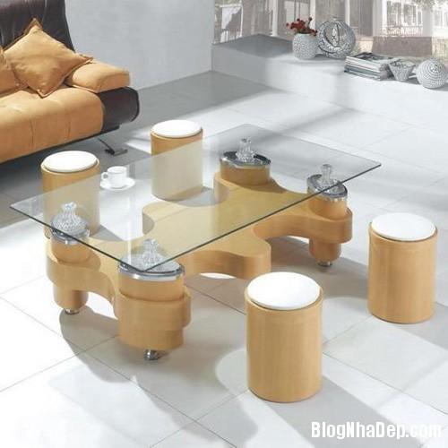 20140423015309231 Phòng khách thêm gọn gàng với chiếc bàn trà giấu ghế