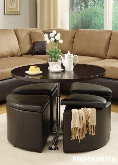 20140423015326594 Phòng khách thêm gọn gàng với chiếc bàn trà giấu ghế