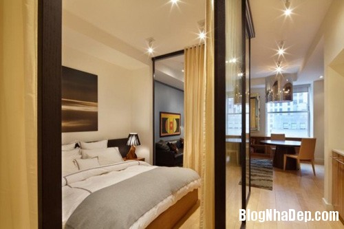 20140512080942791 Tạo không gian phòng ngủ bằng các bức ngăn phòng