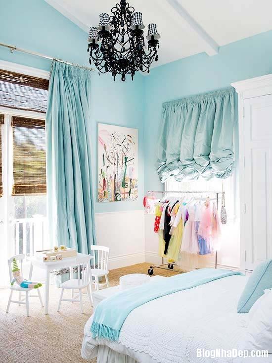 2241 Mẫu phòng ngủ dịu mát với sắc xanh
