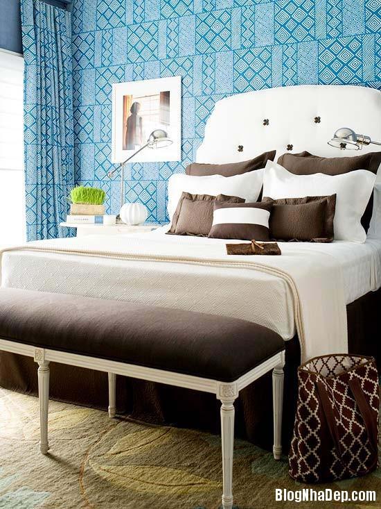 229 Mẫu phòng ngủ dịu mát với sắc xanh