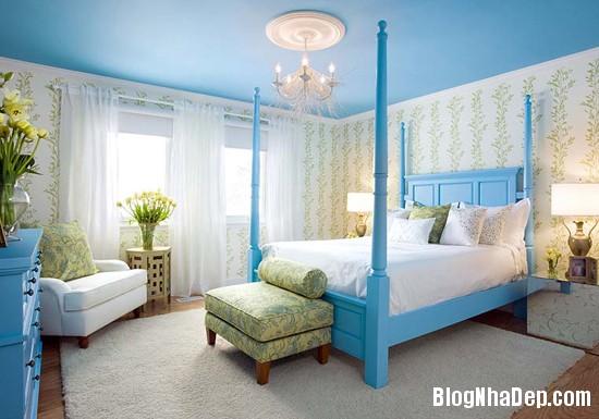 231 Mẫu phòng ngủ dịu mát với sắc xanh