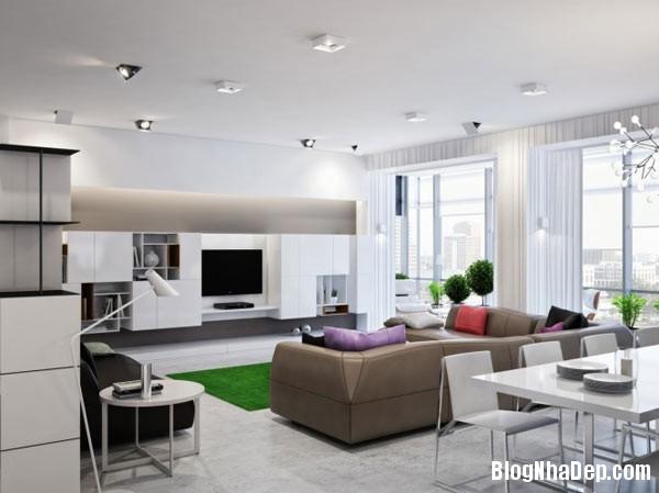 300m2 1 Bài trí nội thất cho căn hộ rộng  300m2