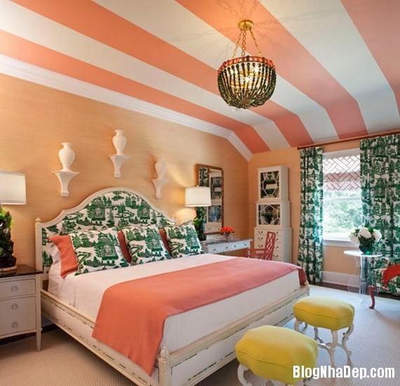 684 Mẫu trần nhà đẹp với họa tiết kẻ sọc