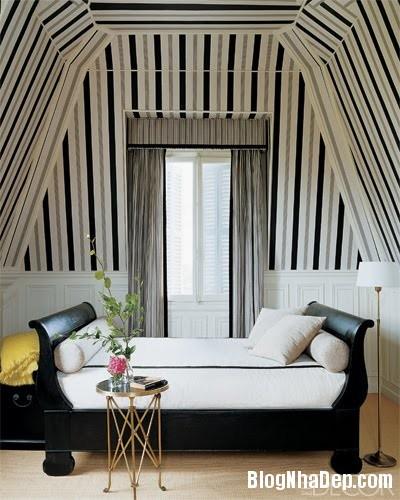 688 Mẫu trần nhà đẹp với họa tiết kẻ sọc
