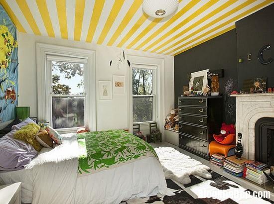 692 Mẫu trần nhà đẹp với họa tiết kẻ sọc