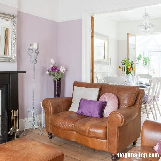 DGSHTHM109 53a36 Ngôi nhà lãng mạn với tông màu tím   trắng