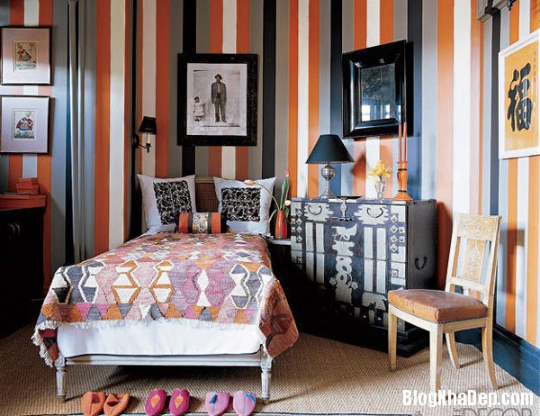 Decorating ideas striped wa Trang trí nội thất nhà bằng họa tiết kẻ sọc