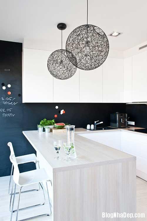 Don gian va hien dai voi hai mau xanh va trang 1 Không gian nội thất đơn giản và hiện đại