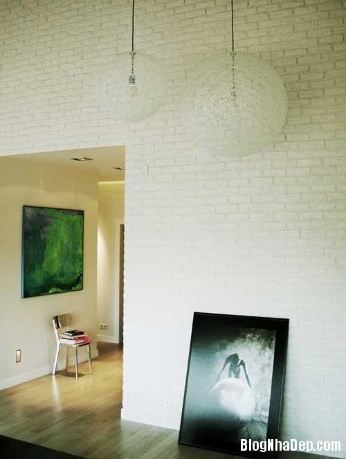 Don gian va hien dai voi hai mau xanh va trang 13 Không gian nội thất đơn giản và hiện đại