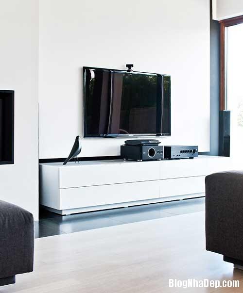 Don gian va hien dai voi hai mau xanh va trang 3 Không gian nội thất đơn giản và hiện đại