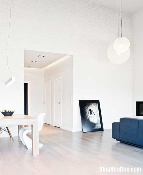 Don gian va hien dai voi hai mau xanh va trang 6 Không gian nội thất đơn giản và hiện đại