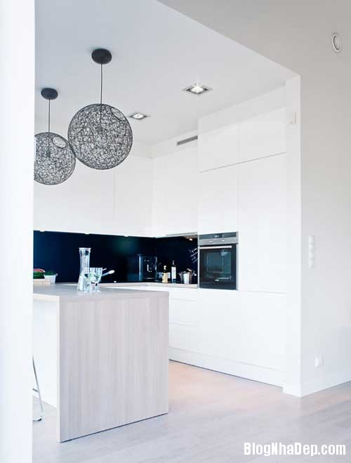 Don gian va hien dai voi hai mau xanh va trang 7 Không gian nội thất đơn giản và hiện đại