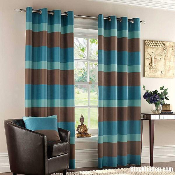 Faux Silk Stripe Eyelet Lin Trang trí nội thất nhà bằng họa tiết kẻ sọc