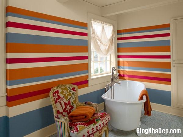 Multicolored stripes in bat Trang trí nội thất nhà bằng họa tiết kẻ sọc