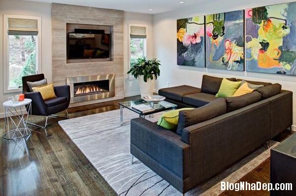 a 1 aaeb6 Trang trí phòng khách đẹp với tranh trừu tượng