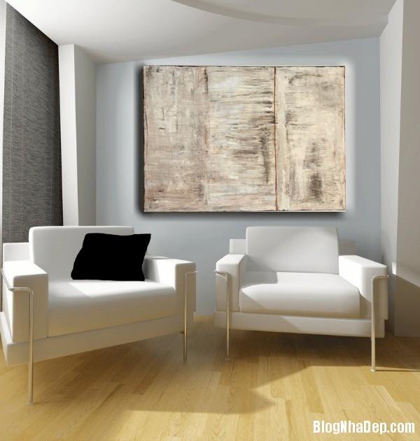 a 11 aaeb6 Trang trí phòng khách đẹp với tranh trừu tượng