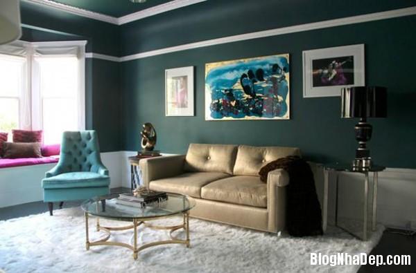 a 3 aaeb6 Trang trí phòng khách đẹp với tranh trừu tượng