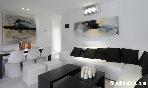 a 4 aaeb6 Trang trí phòng khách đẹp với tranh trừu tượng