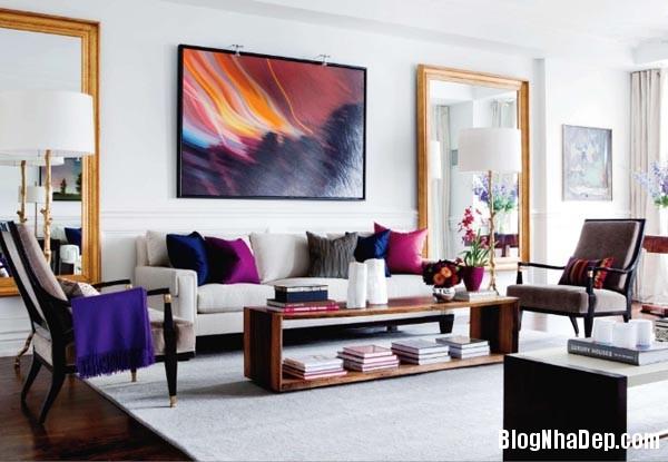 a 6 aaeb6 Trang trí phòng khách đẹp với tranh trừu tượng
