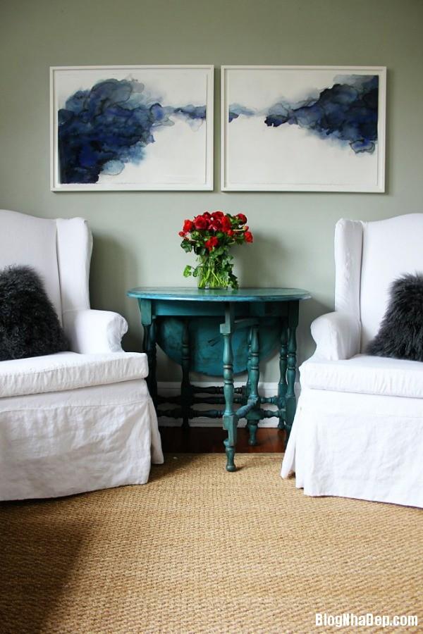 a 7 aaeb6 Trang trí phòng khách đẹp với tranh trừu tượng