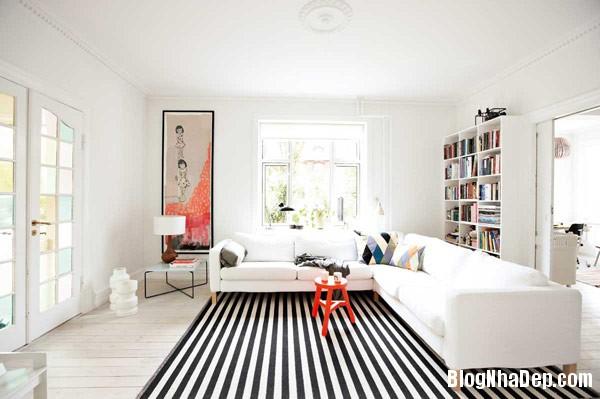bo bedere living room moder Trang trí nội thất nhà bằng họa tiết kẻ sọc