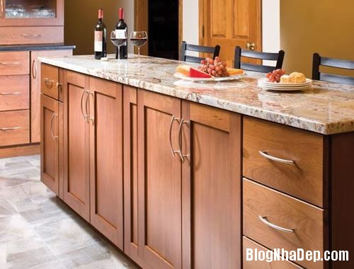 cf4b4  tu be go don mau 1 Màu sắc sinh động cho không gian nhà bếp