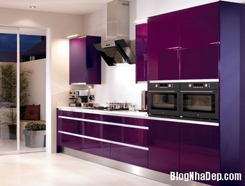 cf4b4  tu bep don mau 1 Màu sắc sinh động cho không gian nhà bếp