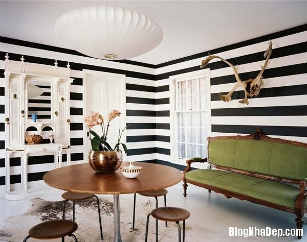 design with stripes 1 Trang trí nội thất nhà bằng họa tiết kẻ sọc