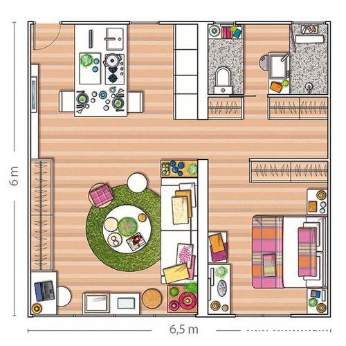 file.243768 Tham khảo cách bài trí cho căn hộ nhỏ 40m2