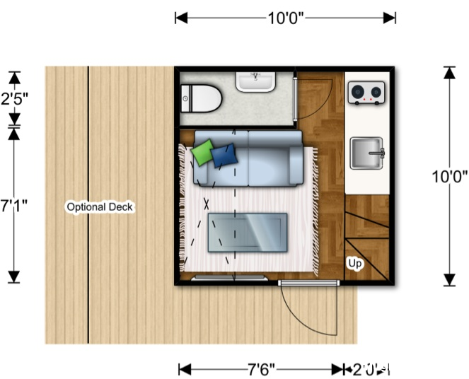 file.329486 Căn nhà nhỏ xinh được lắp ghép từ các modul