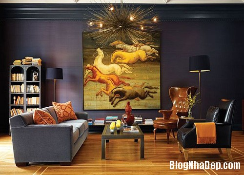 file.390223 Bài trí tranh ảnh trong phòng khách tạo ấn tượng