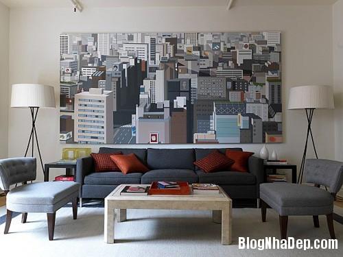 file.390226 Bài trí tranh ảnh trong phòng khách tạo ấn tượng