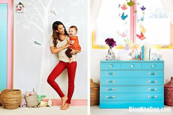 file30 Căn nhà tràn ngập sắc màu của Jessica Alba