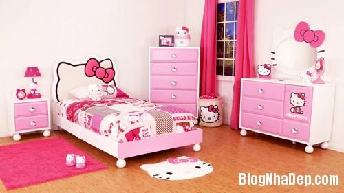 file 00243 Trang trí phòng ngủ dễ thương với mèo Kitty