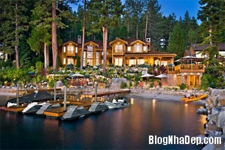 file 00365 Biệt thự gỗ ven hồ Tahoe của tỷ phú Larry Ellison
