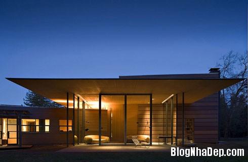 file 00453 Ngôi nhà hiện đại trên đồng cỏ xanh ngắt