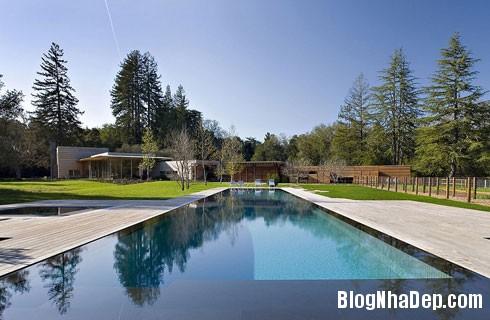 file 00845 Ngôi nhà hiện đại trên đồng cỏ xanh ngắt