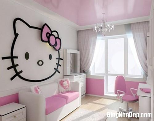 file 01036 Trang trí phòng ngủ dễ thương với mèo Kitty